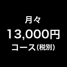 月々13,000円コース